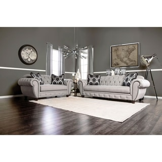 sofa set living room panel curtains buy furniture sets online at overstock com our best of america augusta victorian grey 2 piece