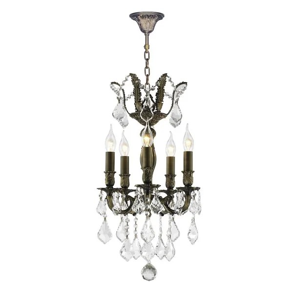 French Versailles Collection 5-light Antique Bronze Finish
