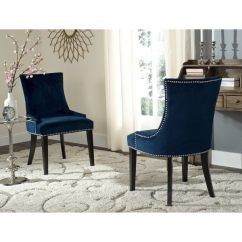 Navy Blue Dining Chairs Set Of 2 Amazon Chair Covers For Weddings Shop Safavieh En Vogue Lester