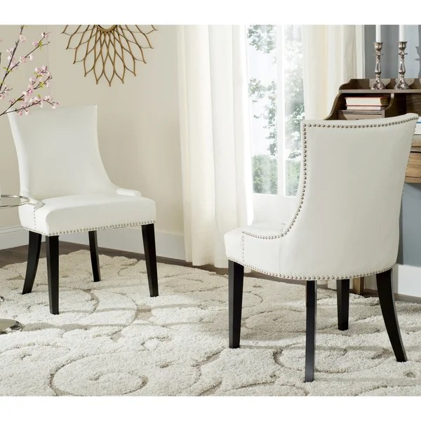 white leather chairs for sale dining chair covers walmart canada shop safavieh en vogue lester set of 2