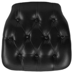 Black Chair Pads Italian Leather Buy Vinyl Cushions Online At Overstock Com Our Hard Tufted Chiavari Cushion