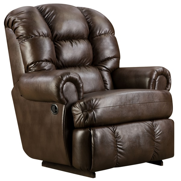 christopher knight leather chair foldable bowl big and tall 350-pound capacity loggins espresso recliner - free shipping today ...