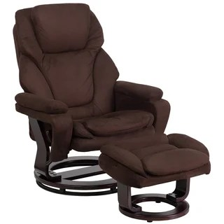 chairs that swivel and recline chair covers dollar tree buy recliner rocking recliners online at overstock copper grove gunnison contemporary ottoman with swiveling mahogany wood base