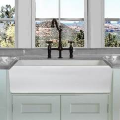 36 Kitchen Sink Bar Table Sets Shop Highpoint Collection White Inch Single Bowl Rectangle Fireclay Farmhouse