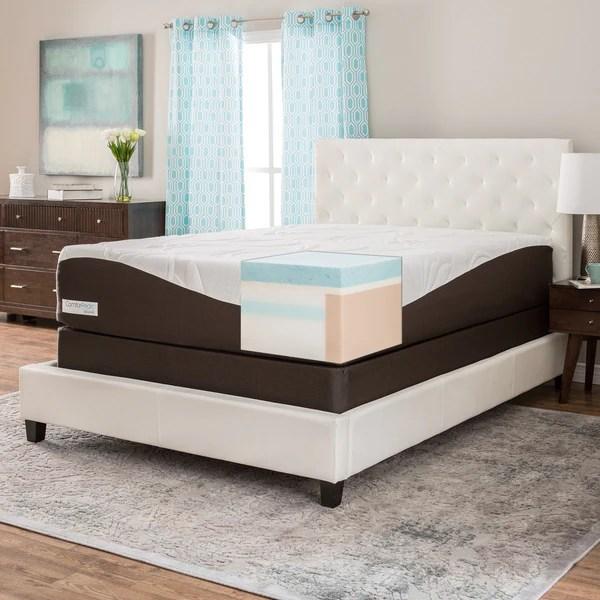 Comforpedic From Beautyrest 14 Inch Full Size Gel Memory Foam Mattress Set