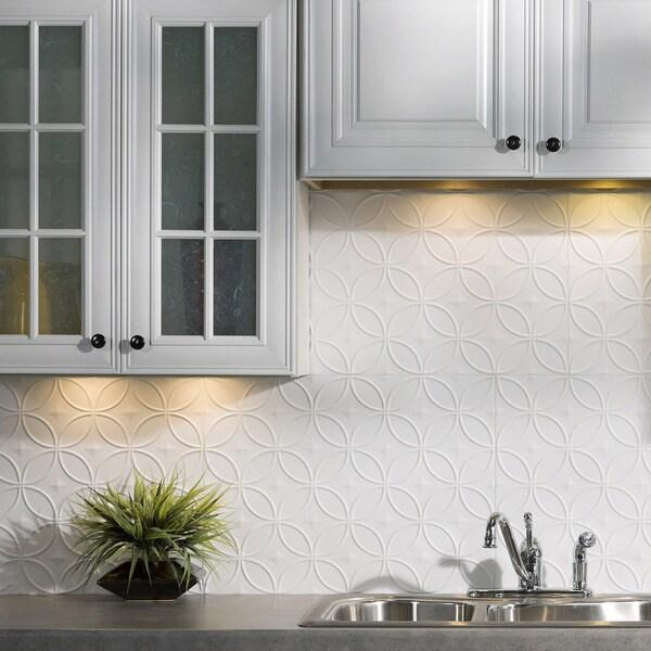 Shop Fasade Rings Matte White 18 in x 24 in Backsplash