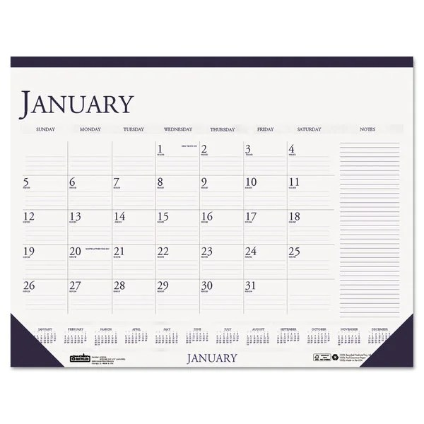 House of Doolittle 2016 Two-Color Monthly Desk Pad