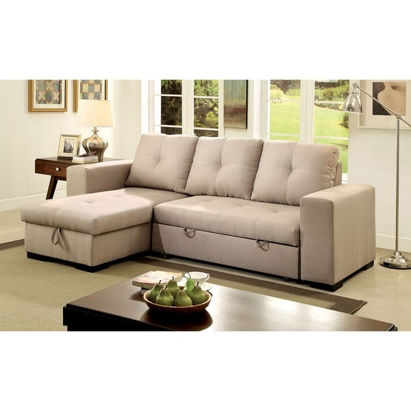 justin ii fabric reclining sectional sofa china suppliers shop furniture of america sagel reversible with pull out sleeper
