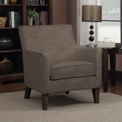 Chocolate Brown Living Room Chairs French Country Rugs For Shop Handy Waldron Linen Arm Chair On Sale