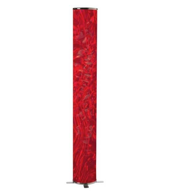 Dainolite Decorative Floor Lamp with Red Ice Shade
