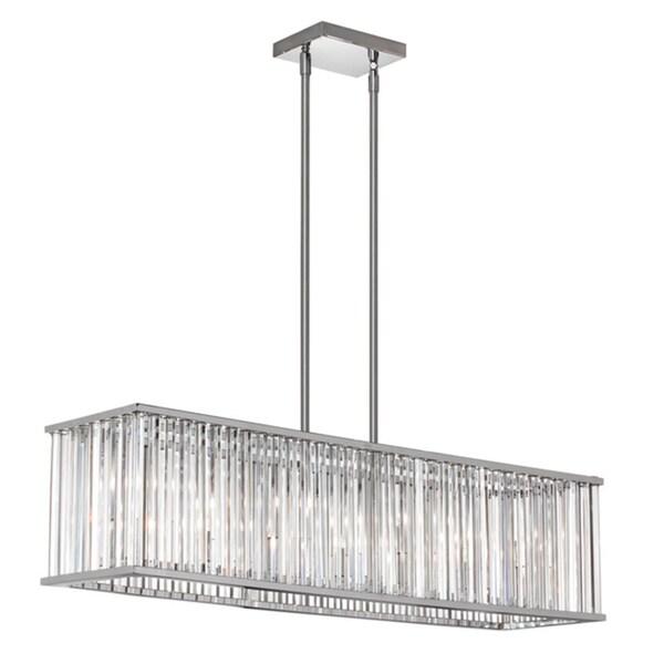 Shop Dainolite 7-light Horizontal Crystal Chandelier