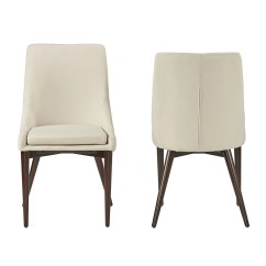 Mid Century Barrel Dining Chair Bedroom Debenhams Sasha Back Chairs Set Of 2 By Inspire Q
