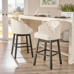 Bar Stool Chairs Small Kitchen Table And Uk Buy Counter Stools Online At Overstock Com Our Best Dining Ogden 35 Inch Fabric Swivel Backed Barstool Set Of 2 By Christopher Knight