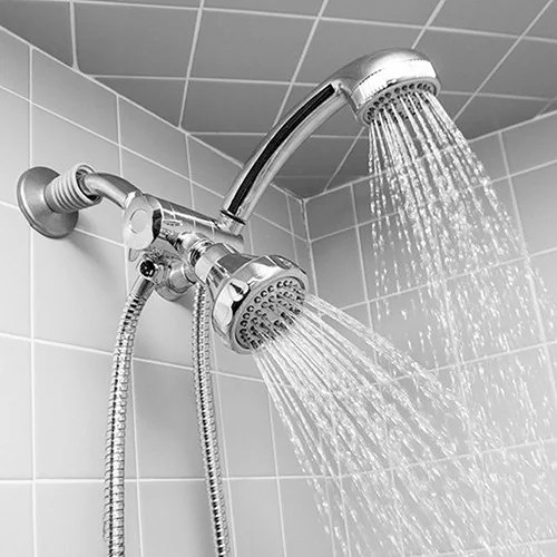 Shop Deluxe Easy Install 5function Dual Shower Head and Massager Set in Chrome  Free Shipping