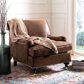 shabby chic living room chairs high quality outdoor folding buy online at overstock com our safavieh chloe brown club chair