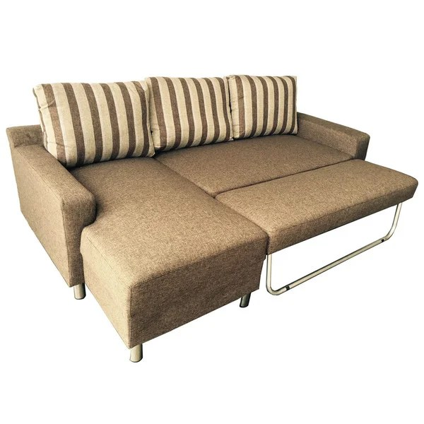 overstock sofa best rated covers shop kachy fabric convertible sectional bed free shipping