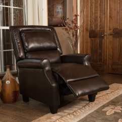 Darvis Leather Recliner Club Chair Brown Christopher Knight Home Seat Cushions Buy Chairs And Rocking Recliners Online At
