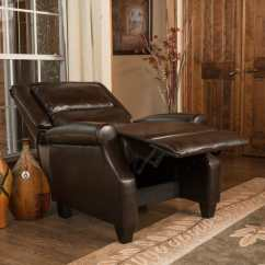 Darvis Leather Recliner Club Chair Brown Christopher Knight Home Reclining Beach With Footrest Buy Chairs And Rocking Recliners Online At