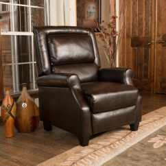 Darvis Leather Recliner Club Chair Brown Christopher Knight Home Table And For Toddlers Chairs Rocking Recliners Less Overstock