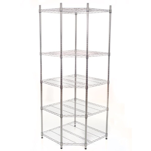 Shop Commercial 5-Tier Chrome Heavy Duty Corner Shelving