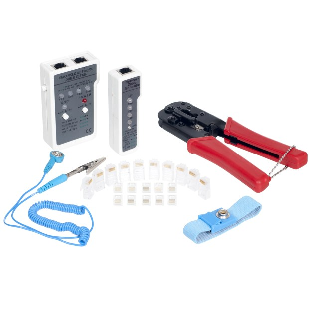 Stalwart Network Connecting and Testing Kit - 24 pc.