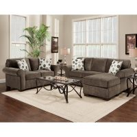 Shop Fabric Sectional Sofa and Loveseat Set with Pillows ...