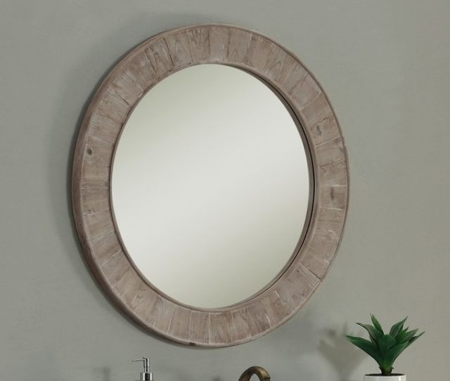 Shop Rustic Style 35 Inch Round Wall Mirror Brown A N Free Shipping Today Overstock 10451321