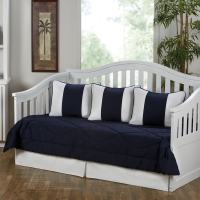 Shop Cabana Navy Blue and White 5-Piece Cotton Daybed Set ...