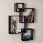 Danya B Espresso Intersecting Cube Shelves