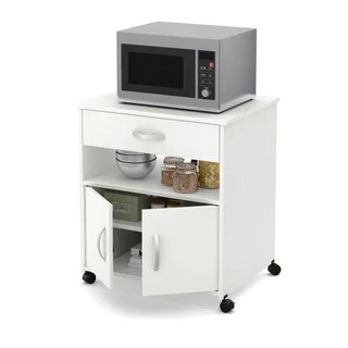kitchen microwave cart remodels with white cabinets buy carts online at overstock com our best south shore fiesta on wheels