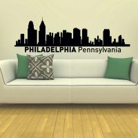 Philadelphia Skyline City Silhouette Vinyl Wall Art Decal ...
