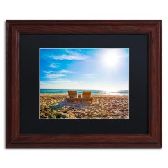 Wooden Frame Beach Chairs Chair Design Dining Shop Preston Florida Black Matte Wood Framed Wall Art X27