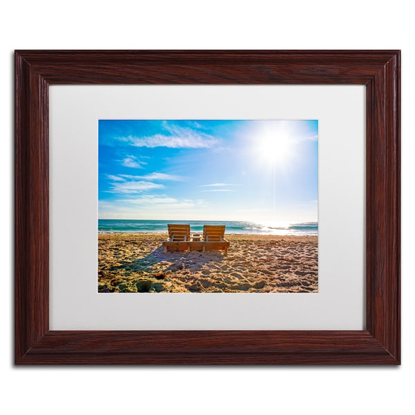 wooden frame beach chairs for heavy person preston florida chair white matte wood framed wall art x27