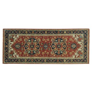 Runner Hand Knotted Antiqued Heriz Recreation Oriental Rug
