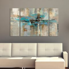 How To Decorate My Living Room With A Sectional Blue Leather Sets Silvia Vassileva Morning Fjord 3-piece Canvas Wall Art Set ...