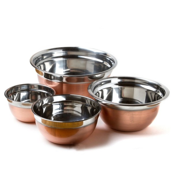 Prime Pacific Copper-finished Stainless Steel Euro-style Mixing Bowl Set Of 4 897863001004
