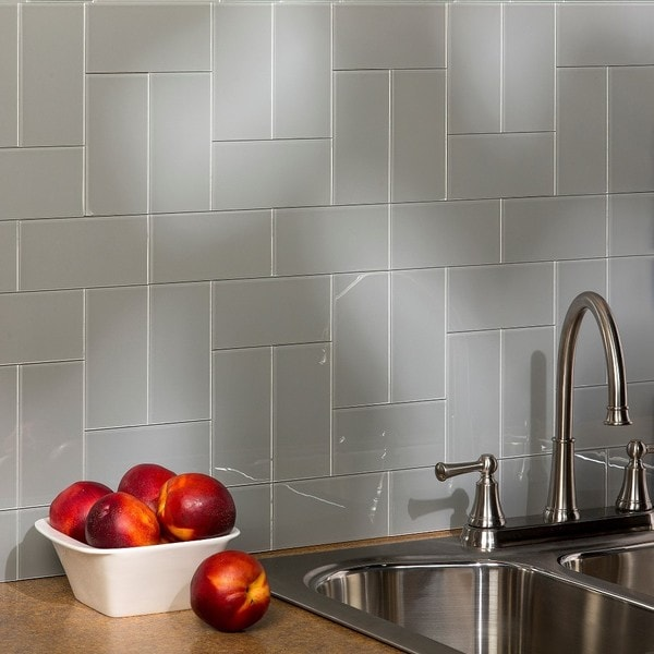 aspect 3x6 inch steel decorative wall tile 8 pack