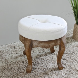 16 inch round chair cushions folding mitre 10 shop international caravan rustic elegance 16.5-inch natural tufted stool - on sale free ...
