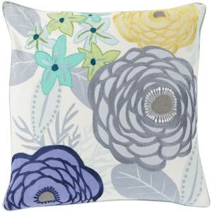 Maurice Floral Feather Down Filled or Poly Filled 20-inch Throw Pillow