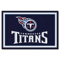 Shop Fanmats Tennessee Titans Blue Nylon Area Rug (5' x 8 ...
