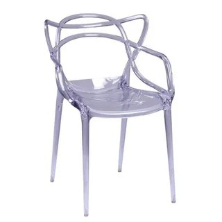 clear acrylic swivel office chair with steel legs rumor - 12725368 overstock.com shopping great deals on lumisource ...