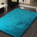 Shop Black Friday Deals On Handmade Turquoise Shag Area Rug 5 X 7 Overstock 10529202