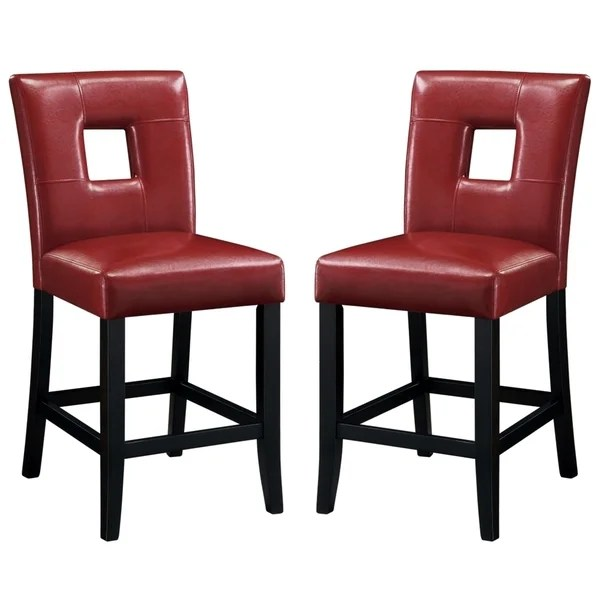 upholstered counter height chair tommy bahama chairs shop epcot open back red stools set of 2