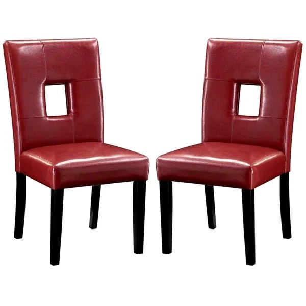 red tufted dining chair beach cup holder replacement shop epcot open back upholstered chairs set of 2 free shipping today overstock com 10538546