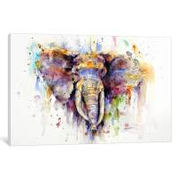 Shop Elephant Canvas Wall Art - On Sale - Free Shipping On ...