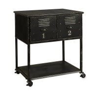 Alastor 2-drawer Contemporary Iron Rolling Cart Accent ...