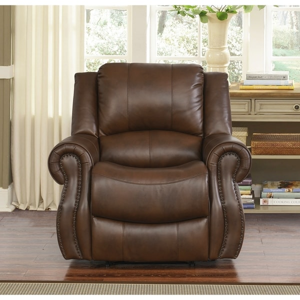 abbyson living rocking chair ikea hanging kids calabasas mesa brown recliner - free shipping today overstock.com 17634583