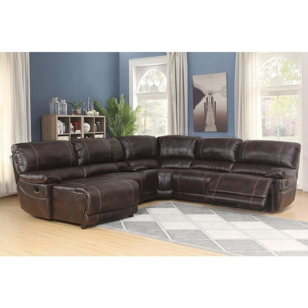 abbyson leather sofa reviews cheap sectional sofas under 300 shop cooper 6-piece dark brown - on ...