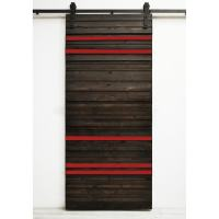 Dogberry Line 'Em Up 36 x 82 inch Barn Door with Sliding ...