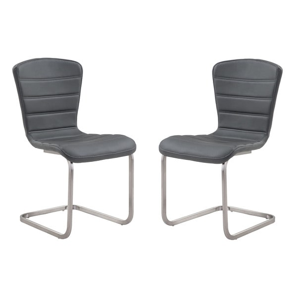 plastic chairs with stainless steel legs big nate dibs on this chair shop cameo contemporary coffee leatherette dining set of 2